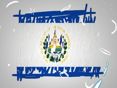 El Salvador  - Hand drawn - Animation - outline - White Background - SD Stock Footage