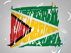 Guyana - Hand drawn - Animation - outline - White Background - SD Stock Footage