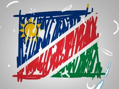 Namibia - Hand drawn - Animation - outline - White Background - SD Stock Footage