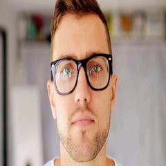Happy smiling man in eyeglasses Stock Footage