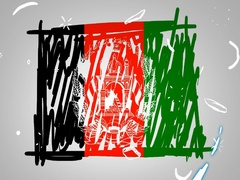 Afghanistan - Hand drawn - Animation - outline - White Background - SD Stock Footage