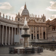 The Vatican Rome Italy Timelapse Hyperlapse Stock Footage