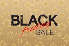Black Friday Sale background. Promotional banner design. Winter background with Stock Illustration
