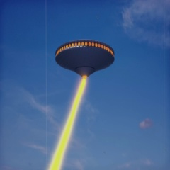 Vintage Alien Invasion: UFO Explosion (Color) Stock Footage