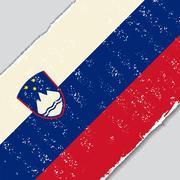 Slovenian grunge flag. Vector illustration Stock Illustration