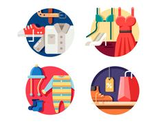 Man woman and childrens clothing. Stock Illustration