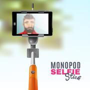 Monopod Selfie Illustration Stock Illustration