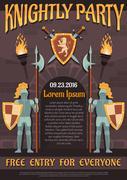 Heraldic Knight Poster Stock Illustration