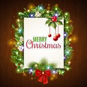 Christmas Holiday Frame Stock Illustration