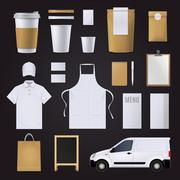 Coffee Corporate Identity Set Stock Illustration