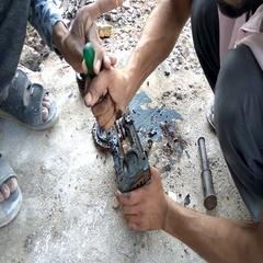 Men's Repairing   A Gearbox Stock Footage