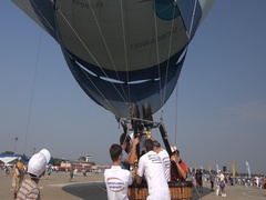 BANEASA ROMANIA-JULY 5 2016-General Aviation Exhibition Hot air balloon 4k UHD Stock Footage