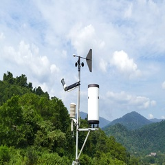 Weather station at high mountain. Stock Footage