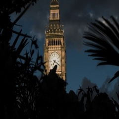 HORROR IN LONDON BIG BEN DRAMATIC AND SCARY BLACK DARK CLOUD Stock Footage