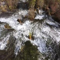 Pearl Shoal Waterfall at Jiuzhaigou National Park in Sichuan, China Stock Footage