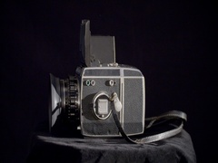 Rotating zenza bronica 645 vintage camera Stock Footage