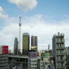 Cityscape of tokyo and it's skytree on a summer day Stock Footage