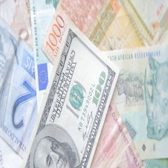 World currency, dollar, Euro, Peso, Real, Lira Stock Footage