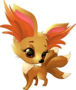 Cute fox cartoon Piirros