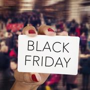 Text black friday in a signboard Stock Photos
