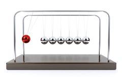 Balancing ball Newton's cradle pendulum isolated on white background Stock Illustration