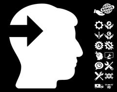 Head Plug-In Arrow Pictograph with Bonus Stock Illustration