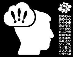Problem Brainstorm Pictograph with Bonus Stock Illustration