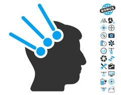 Neural Interface Connectors Pictograph with Bonus Stock Illustration