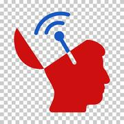 Blue and Red Open Mind Radio Interface Toolbar Icon Stock Illustration