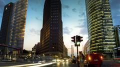 Potzdamer Platz in Berlin with building business and traffic cars Stock Photos