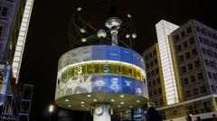 Famous World Clock located in Alexanderplatz in Berlin, Germany Stock Photos