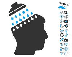 Brain Shower Pictograph with Bonus Stock Illustration