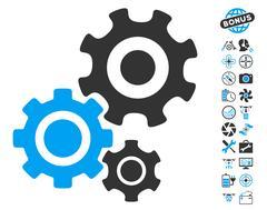 Gear Mechanism Pictograph with Bonus Stock Illustration