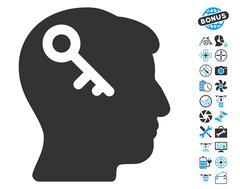 Head Key Pictograph with Bonus Stock Illustration