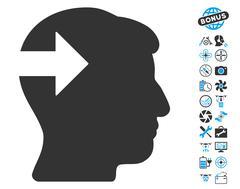 Head Plug-In Arrow Icon with Bonus Stock Illustration