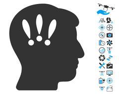 Head Problems Pictograph with Bonus Stock Illustration