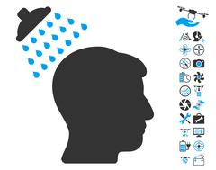 Head Shower Pictograph with Bonus Piirros