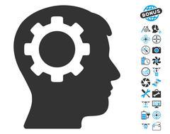 Intellect Gear Pictograph with Bonus Stock Illustration