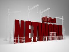 Building global network Stock Illustration