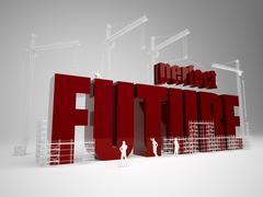 Building perfect future Stock Illustration