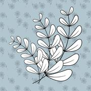Rustic decorative style Stock Illustration