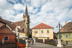 Historical centre of Sibiu, Romania Stock Photos
