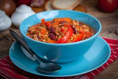 Minced meat stewed Stock Photos
