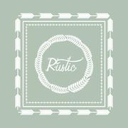 Rustic decorative style Stock Illustration
