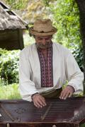 A Ukrainian folk musician Stock Photos
