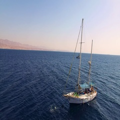 Yacht moored at sea Stock Footage