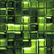 Seamless texture of many glossy glass cubes 3d abstract squares Stock Illustration