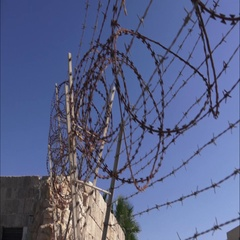 Acre Prison Barbwire Stock Footage