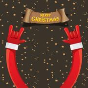 Christmas Rock n roll greeting card Stock Illustration