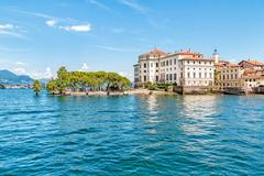 Bella Island or Isola Bella on Maggiore lake, Stresa, Italy Stock Photos